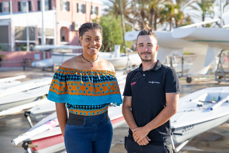 Clipper Race crew ambassadors Chanara Smith-Rookes and Matthew Stephens