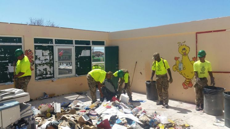 RBR Troops Get To Work in TCI